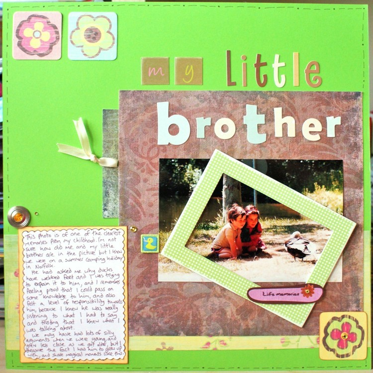 My Little Brother layout at Jennifer Grace Creates