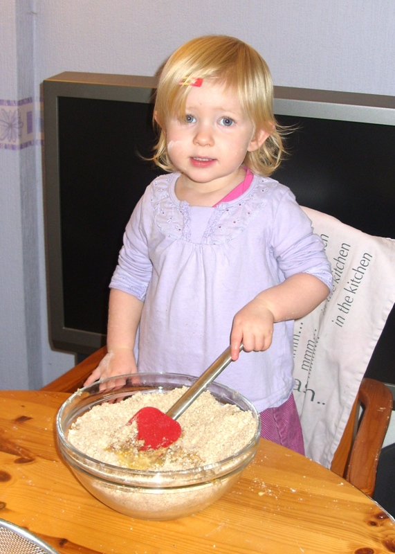 Little Miss Making Gingerbread