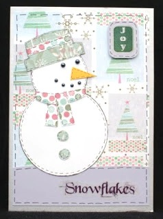 Snowman Collage Christmas Card at Jennifer Grace Creates