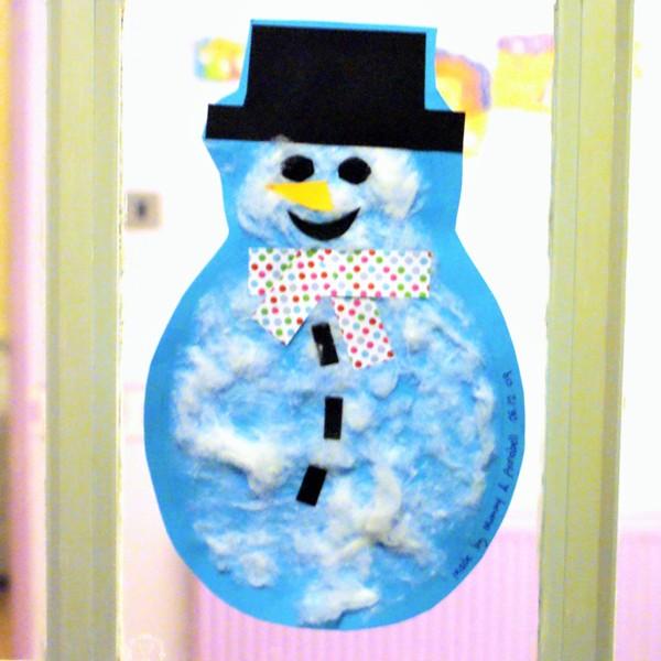 Christmas Kids Craft Snowman at Jennifer Grace Creates