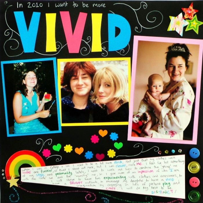 Word Of The Year 2010 - Vivid layout at Jennifer Grace Creates