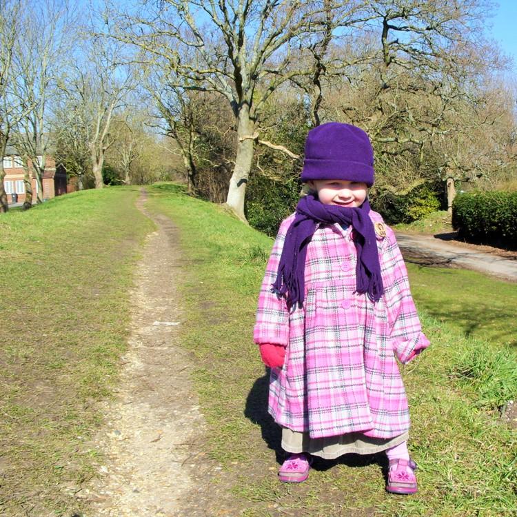 Little Miss on a walk 2010