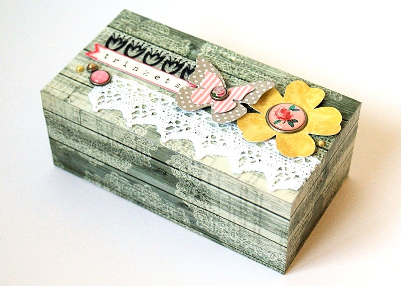 My Mind's Eye Miss Caroline Trinket Box at Jennifer Grace Creates