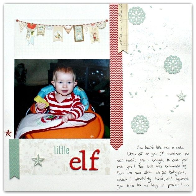 Little Elf Layout using My Mind's Eye All Is Bright