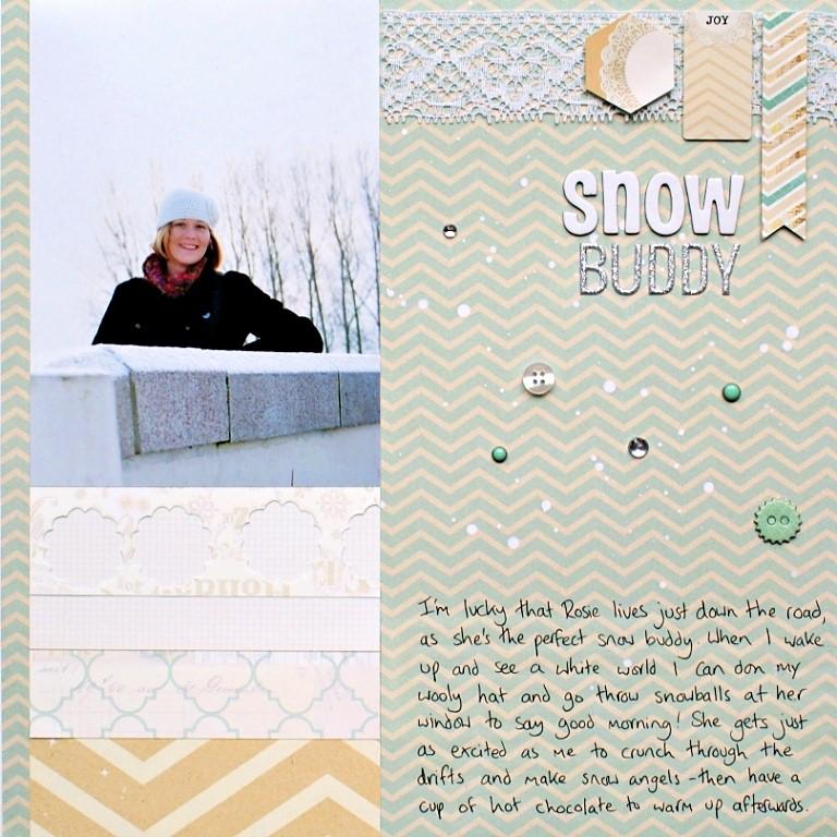 Snow Buddy Layout using My Mind's Eye All Is Bright at Jennifer Grace Creates