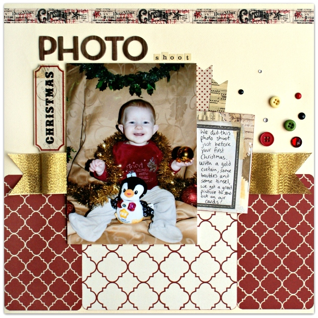 Christmas Photo Shoot Layout at Jennifer Grace Creates