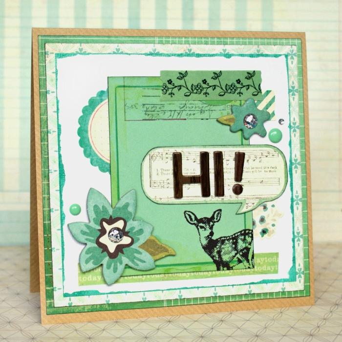 Hi Card by Jennifer Grace using Crate Paper