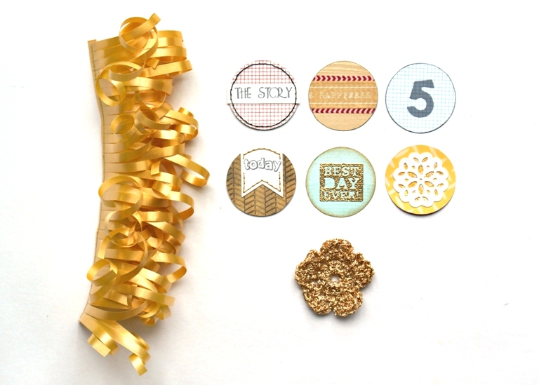 Gold Ruffle Trim and Handmade Tidbits