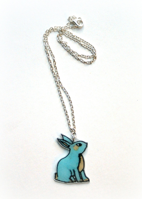 Shrinkles Bunny Necklace by Jennifer Grace