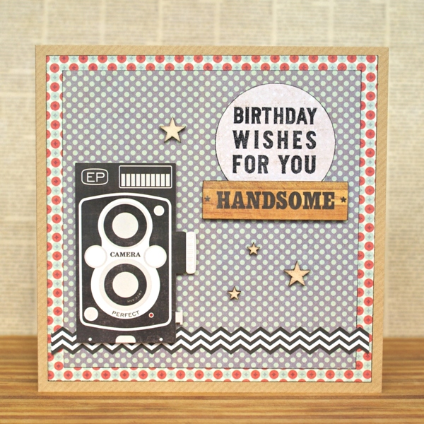 Birthday Wishes For You, Handsome card by Jennifer Grace
