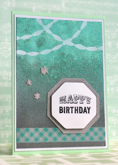 Blue Bunting Happy Birthday Card by Jennifer Grace