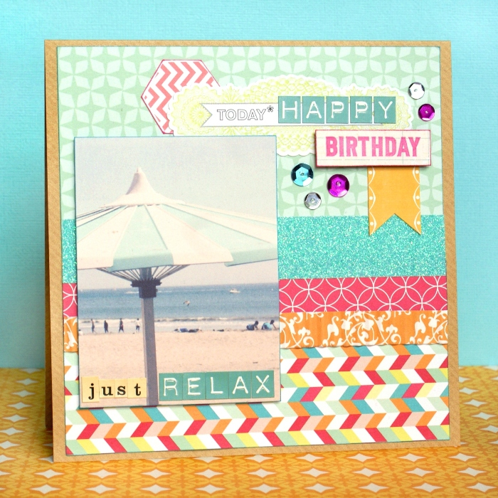 Just Relax card by Jennifer Grace