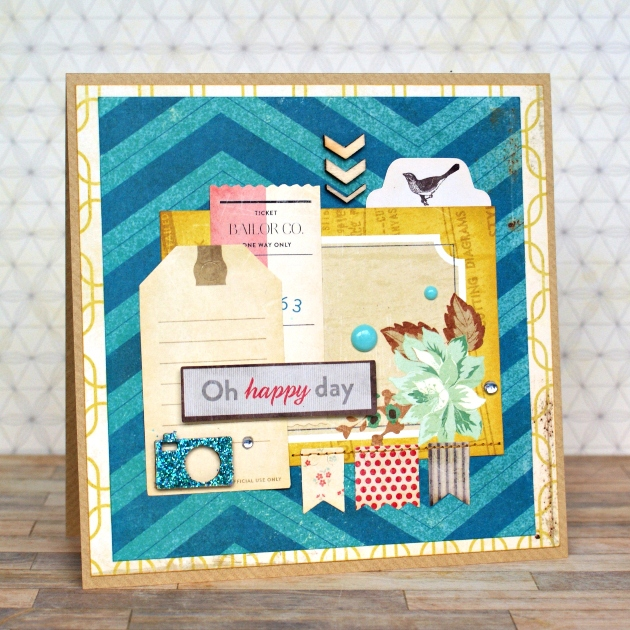Oh Happy Day card by Jennifer Grace using Crate Paper