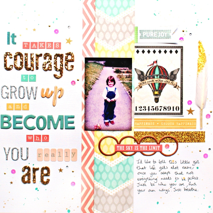 It Takes Courage layout by Jennifer Grace
