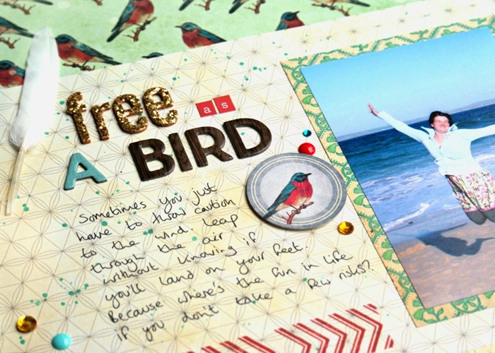 Free As A Bird layout by Jennifer Grace