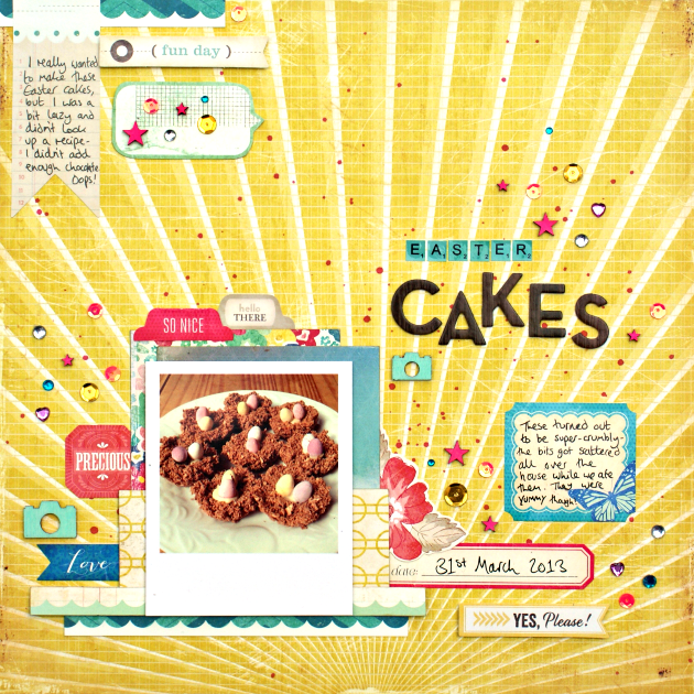 Easter Cakes layout by Jennifer Grace for SJ Crafts