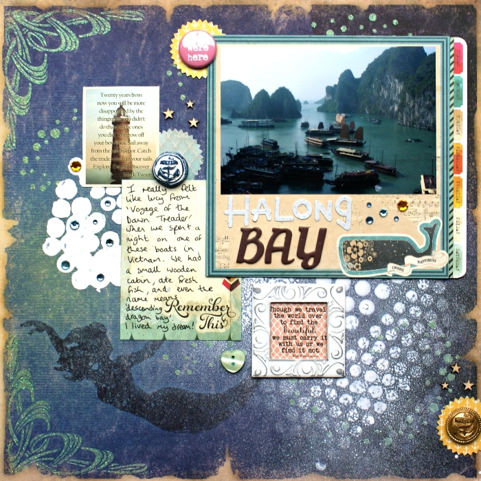 Halong Bay layout by Jennifer Grace