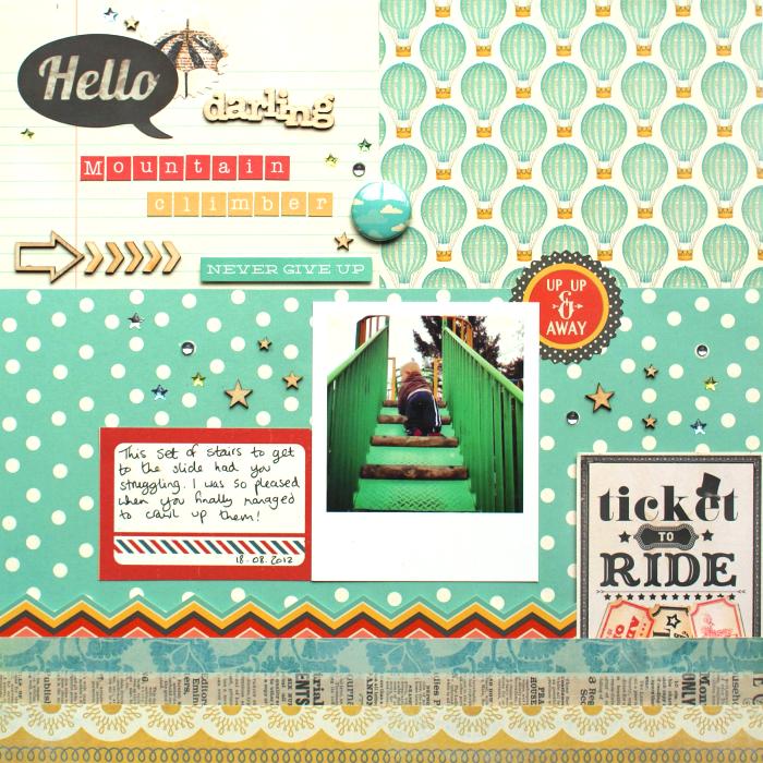 Hello Darling Mountain Climber layout by Jennifer Grace