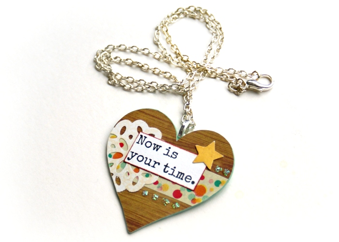 Now is Your Time pendant by Jennifer Grace
