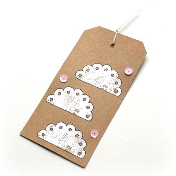 Cloud Gift Tag by Jennifer Grace