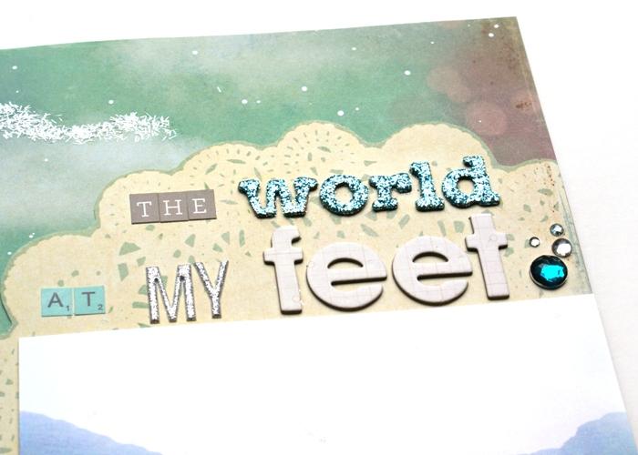 The World at My Feet layout by Jennifer Grace