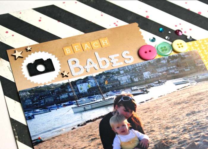 Beach Babes layout by Jennifer Grace