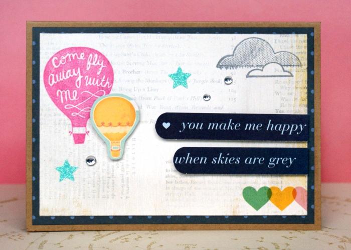 You Make Me Happy card by Jennifer Grace