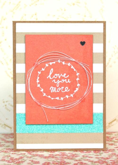 Love You More card by Jennifer Grace