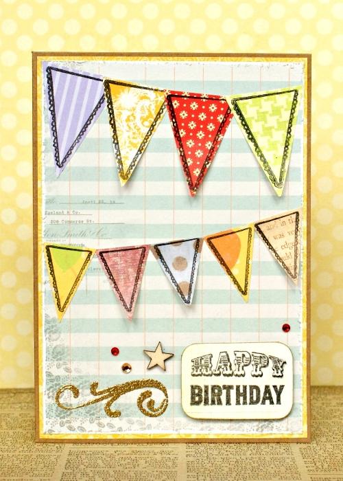 Birthday Bunting Card by Jennifer Grace