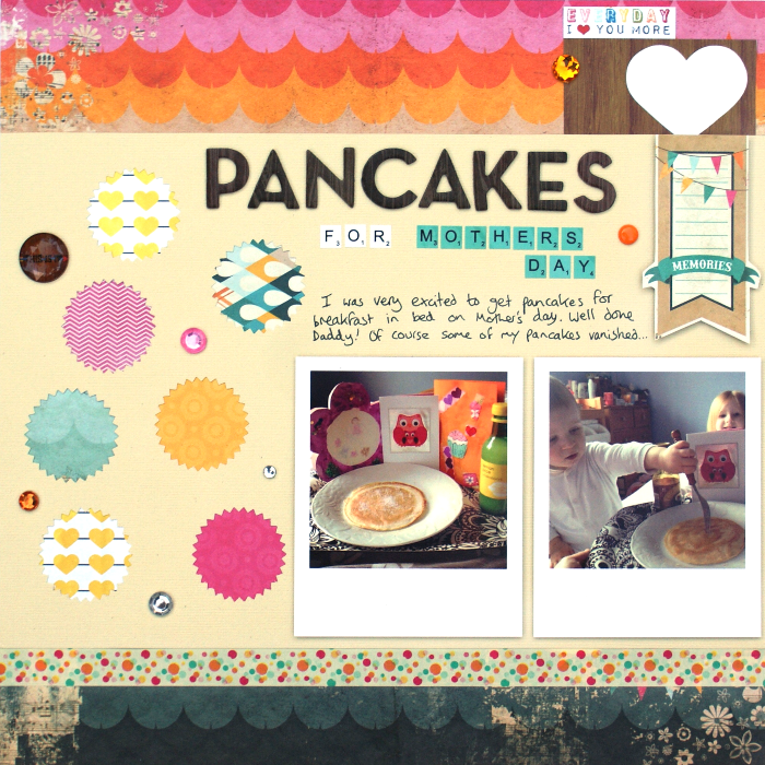 Pancakes for Mother's Day layout by Jennifer Grace