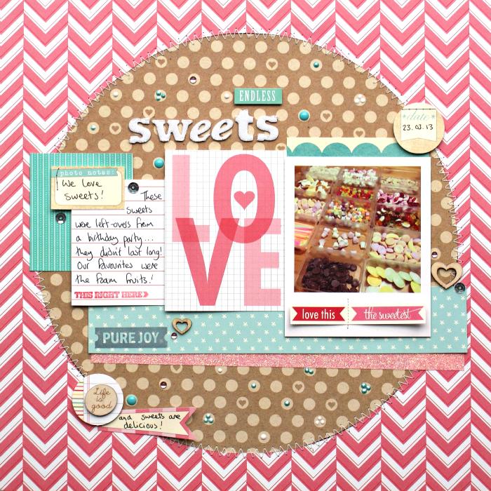 Endless Sweets Layout by Jennifer Grace using Elle's Studio