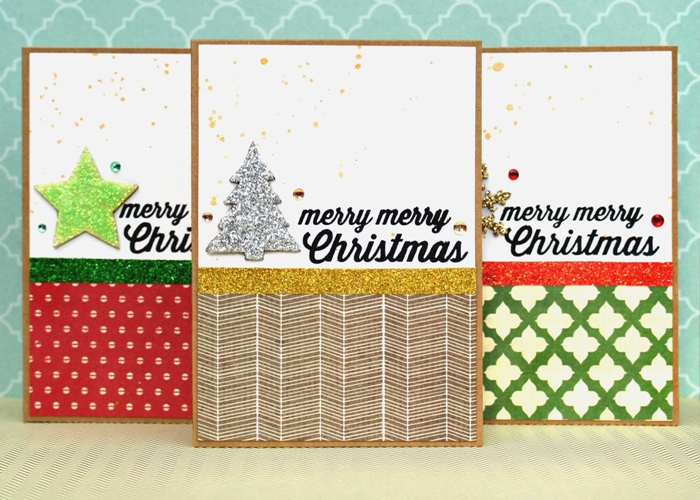Clean and Simple Christmas Cards by Jennifer Grace