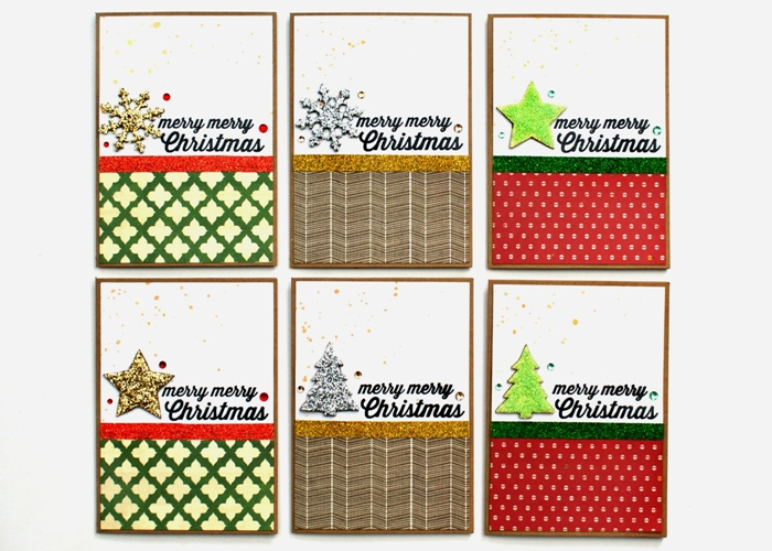Merry Merry Christmas cards by Jennifer Grace