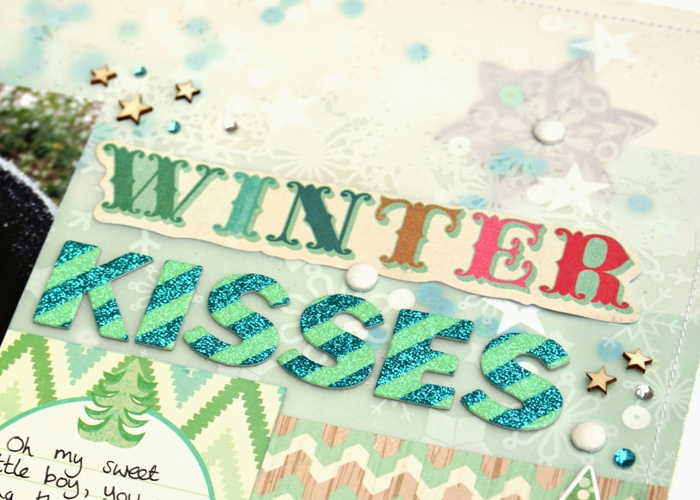 Winter Kisses layout by Jennifer Grace