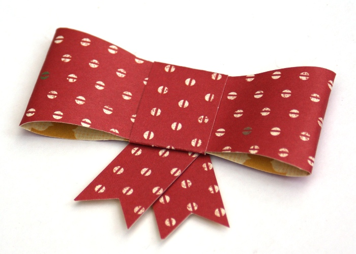 Paper Bow Tutorial by Jennifer Grace
