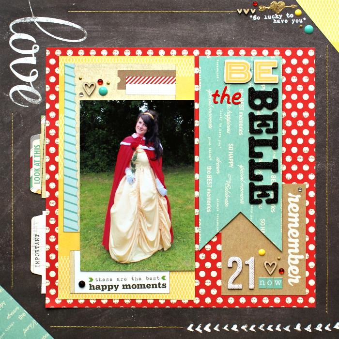 Be the Belle layout by Jennifer Grace