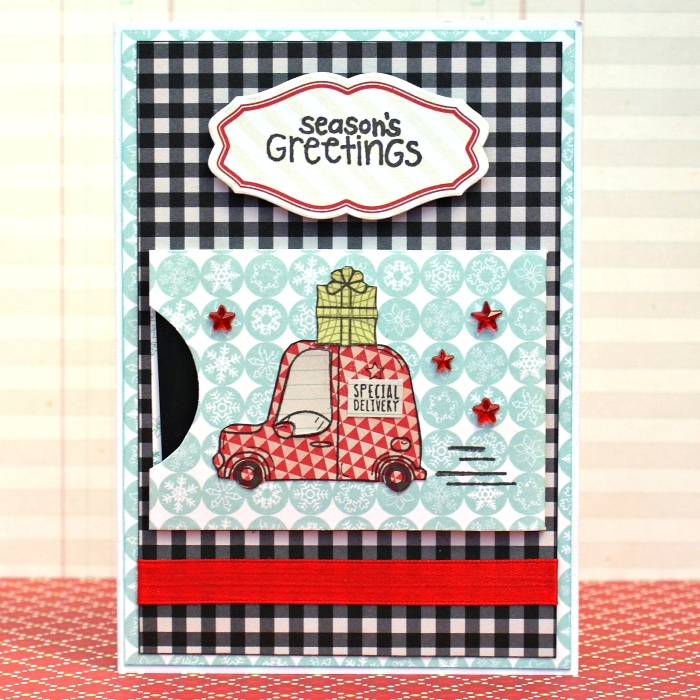 Season's Greetings Gift Card with Pocket by Jennifer Grace
