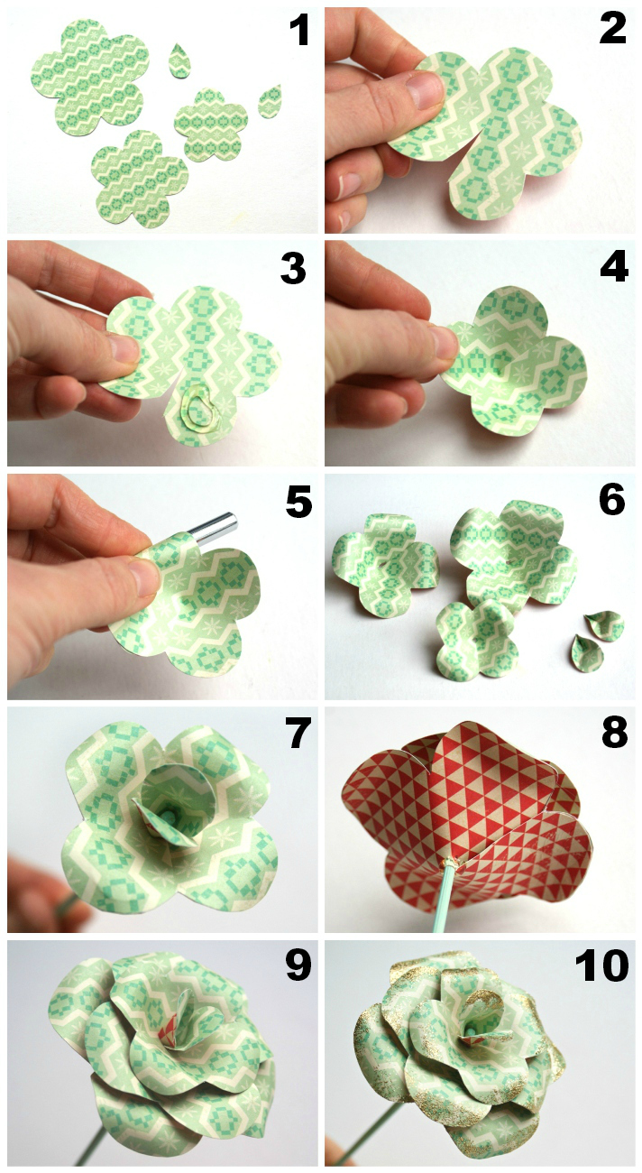 Paper Rose Tutorial by Jennifer Grace
