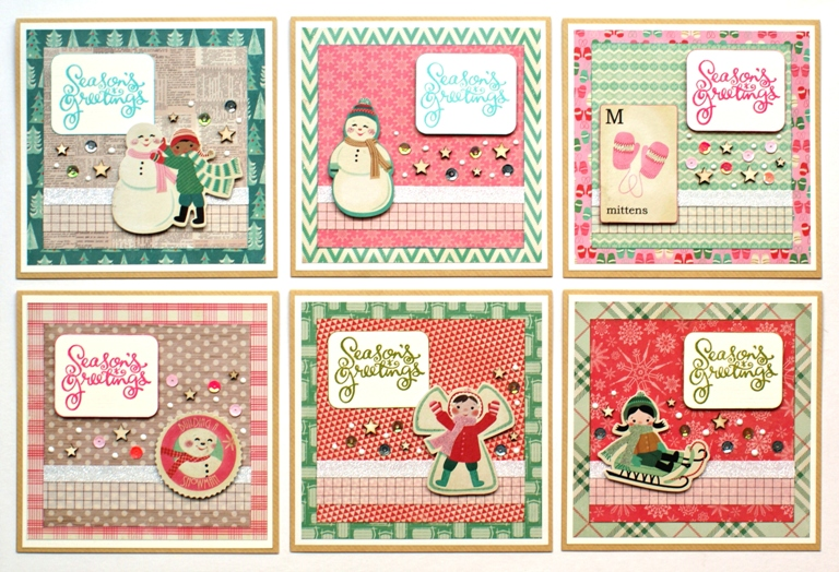 Colourful Christmas Cards by Jennifer Grace