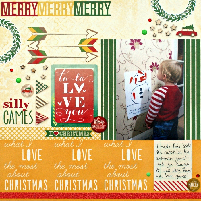 Silly Games layout by Jennifer Grace