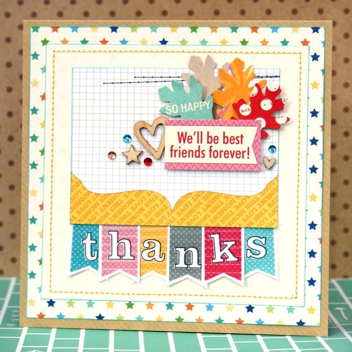 Best Friend Thanks card by Jennifer Grace
