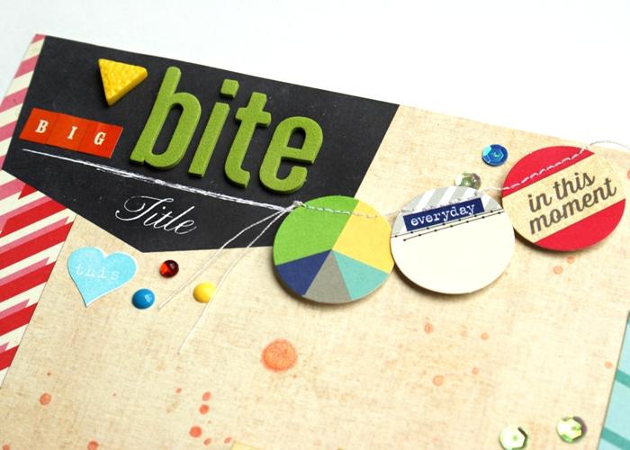 Big Bite layout by Jennifer Grace