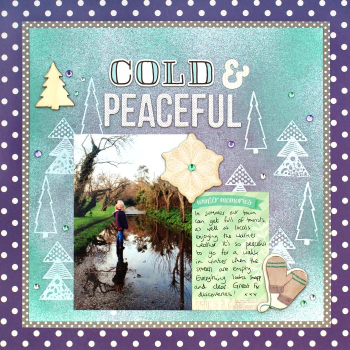 Cold & Peaceful Layout by Jennifer Grace