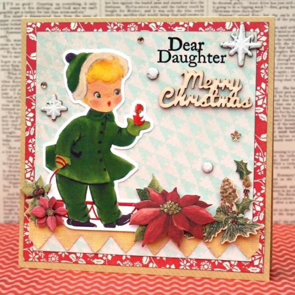 Dear Daughter Merry Christmas Card by Jennifer Grace