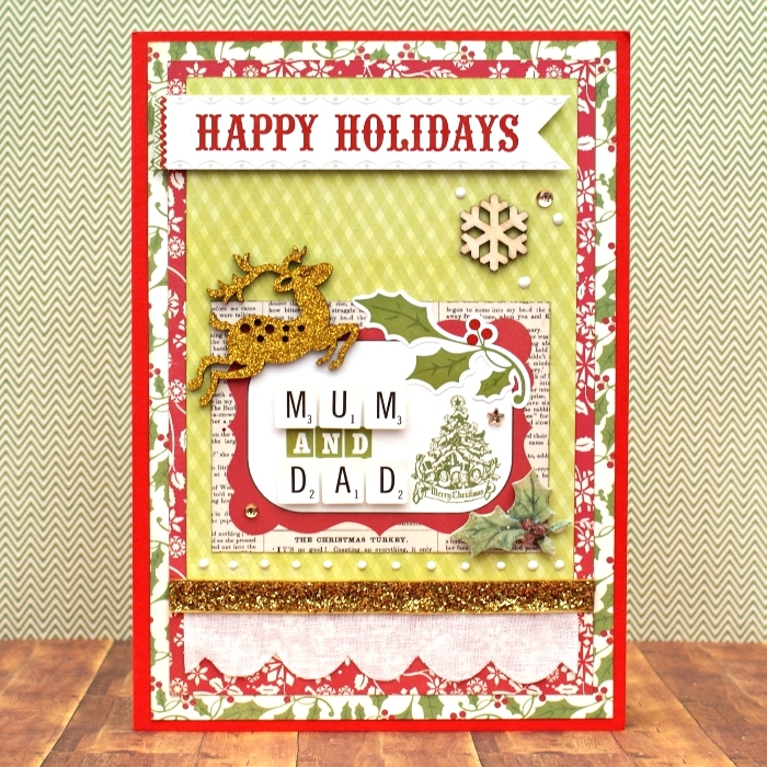 Happy Holidays Mum and Dad card by Jennifer Grace