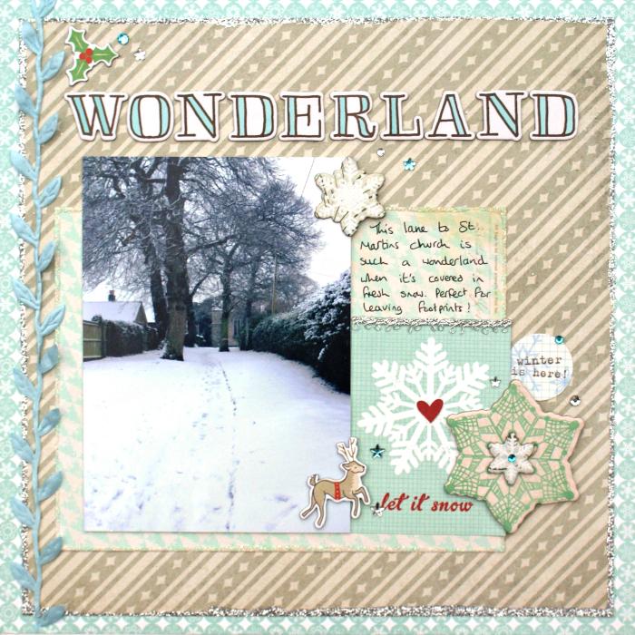 Wonderland Layout by Jennifer Grace