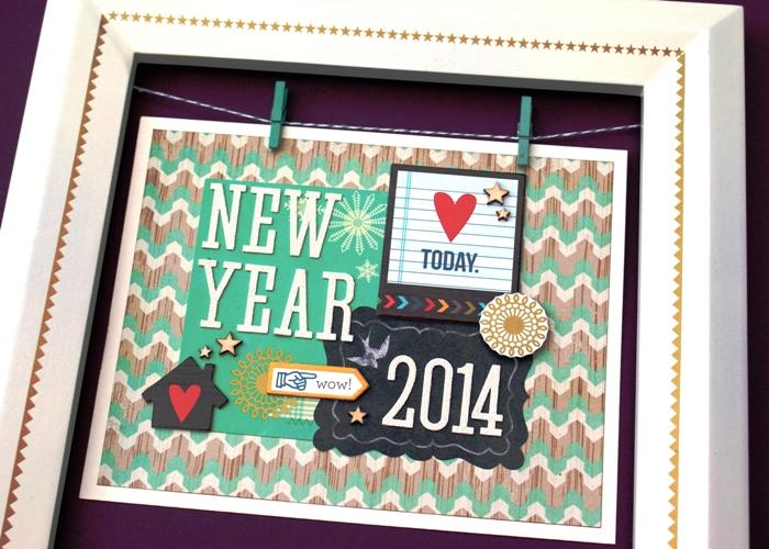 New Year Frame by Jennifer Grace