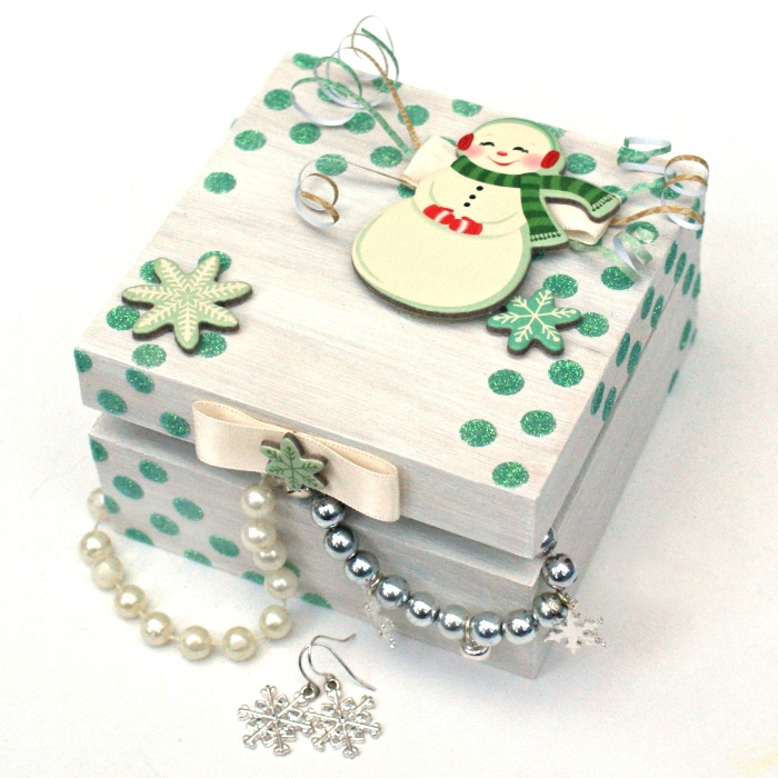 Winter Trinkets Box by Jennifer Grace