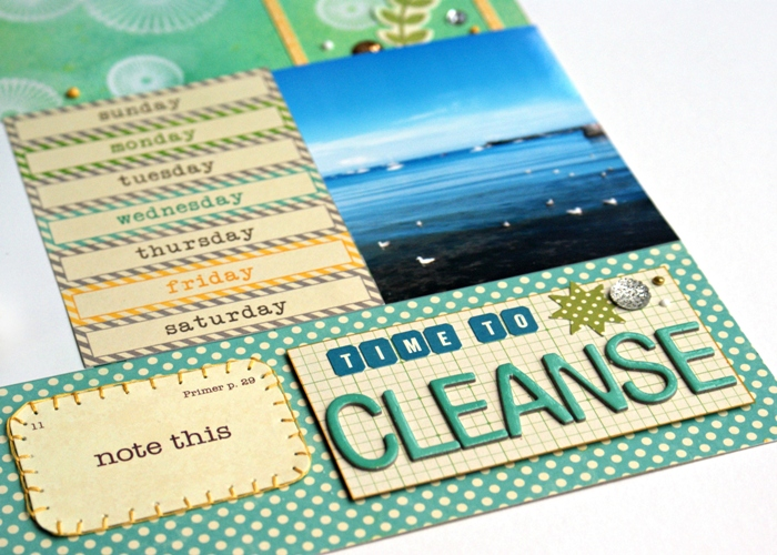 Time to Cleanse layout by Jennifer Grace