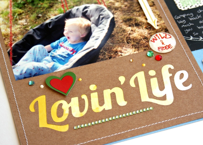 Lovin Life Layout by Jennifer Grace